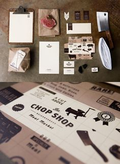 A butcher shop with a killer identity: Austin-based Ptarmakdesigned a full range of letterheads, packaging, and business cards for The Chop Shop, and I love how the identity feels like a totally modern take on the classic butcher shop look.