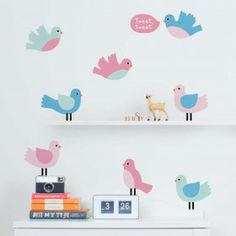 Our Springville wall stickers theme creates a pretty as can be little world for your child's bedroom or nursery. Full of happy little birds, friendly butterflies, flowers, a gorgeous tree and more, you'll be spoilt for choice with these cute wall decals! Girls Room Wall Decor, Girl Decor, Kids Bedroom, Bedroom Ideas, Girls Wall Stickers, Wall Decor Stickers, Wall Decals, Bedroom Doors, Little Girl Rooms