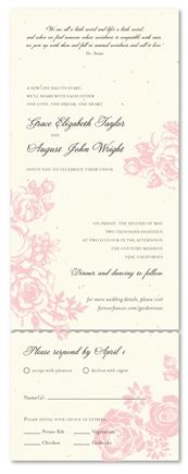 Rose Garden Wedding Invitation by ForeverFiances. Printed on recycled paper and made in USA.