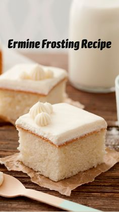 Cake Frosting Recipe, Frosting Recipes, Buttercream Frosting, Cake Recipes, Ermine Buttercream Recipe, Homemade Cake Icing, Red Velvet Cake Frosting, Frost Cupcakes, White Cupcakes