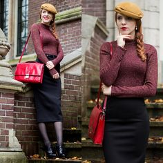 More looks by Sonja Vogel: http://lb.nu/retrosonja  #elegant #retro #vintage #glitter #festive #party #holidays #christmas #nye
