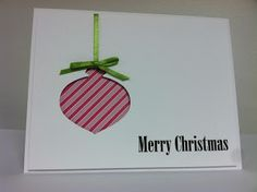 Betty's Blog: Christmas Cards - Stampin' Up Ornament Punch