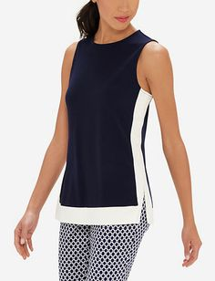 Sleeveless Colorblocked Top from THELIMITED.com