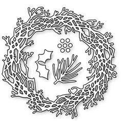 Impression Obsession Dies, Twig Wreath