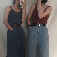 Highwaisted jeans. Also reminds me of rompers which I've always wanted to try.