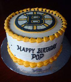 Boston Bruins hockey birthday buttercream cake