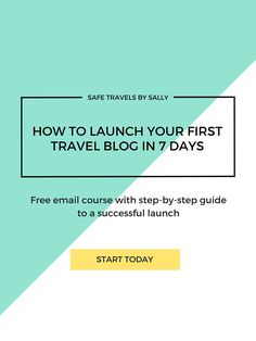 How to Launch Your First Travel Blog in 7 Days. Free email course with step-by-step guide to a successful launch.