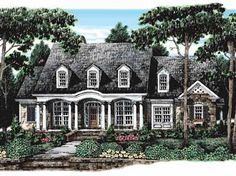 Colonial Cottage Country Farmhouse Southern Traditional House Plan