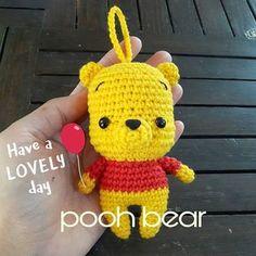 Amigurumi - Gấu Pooh - Free Pattern
