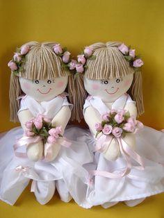Boneca de pano Florista