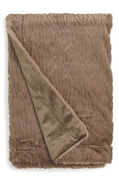 Nordstrom at Home Nordstrom at Home Birch Faux Fur Throw available at #Nordstrom