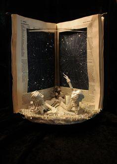 Constellation, book sculpture by Jodi Harvey-Brown  http://sunnydaypublishing.com/books/    Altered book art