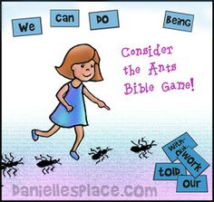 Free Sunday School Lesson for Children about Ants - Consider the Ants Bible Lesson - free printable craft patterns about ants Free Sunday School Lessons, Sunday School Activities, Church Activities, Bible Study Crafts, Kids Church, Church Ideas, Preschool Bible, Bible Lessons, Bible Games