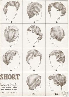 I wish I knew how ladies made this happen back in the day! Curling short hair is so hard!