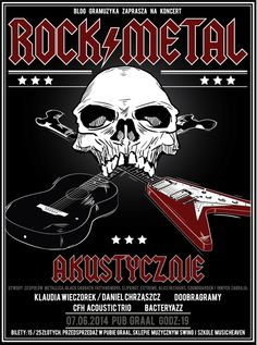 Rock and Metal night in Pub Graal poster on Behance