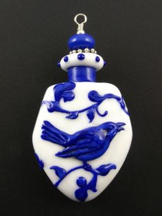 Kerri Fuhr -  Handcrafted Lampwork Aromatherapy Vessel / http://www.kerrifuhr.com/aroma.html