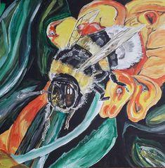 Bumblebee, Hummel, Acrylmalerei, Acrylicpaintings, paintings, 2018 Paintings, Art, Art Background, Paint, Painting Art, Kunst, Performing Arts, Painting, Painted Canvas