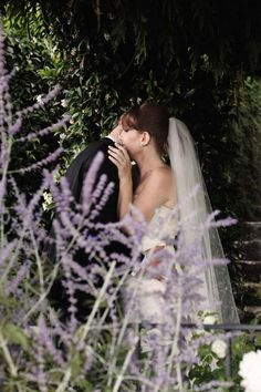 Portrait of the bridal couple in the gardens of Hotel Caruso in Ravello http://www.weddingsontheamalficoast.com/ravello-wedding-jackie-constantin-sinagra.html