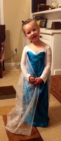 The Elsa dress I made for my niece...working on the ones for the other two! Thanks to the pattern from Joy2Sew on Etsy!