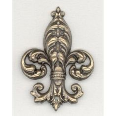 Bold Fleur-de-Lis Oxidized Brass