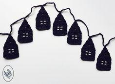 Free pattern Durable Glam December houses haken Crochet Garland, Free Pattern, December, Houses, Knitting, School, Candies, Craft Work, Homes