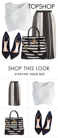 """""""Topshop skirt"""" by mareehamasood246 on Polyvore featuring Topshop, Chicwish, Michael Kors and Christian Dior"""