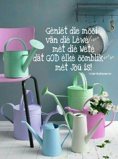God is met jou...lewe voluit #Afrikaans #LifeQuotes __carinhearn Prayer Quotes, Scripture Quotes, Bible Verses, Lekker Dag, Evening Greetings, Afrikaanse Quotes, Goeie Nag, Special Words, Message Of Hope