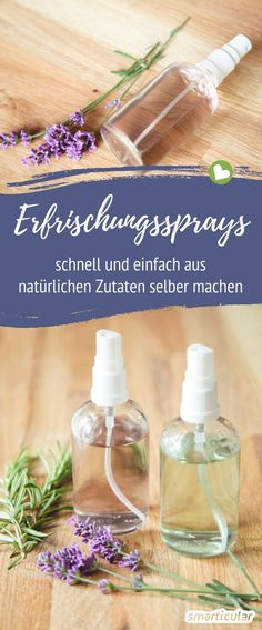 Without garbage and preservatives: refreshing spray itself .- Ohne Müll und Konservierungsstoffe: Erfrischungsspray selber machen Refreshing spray you can easily make yourself! This saves waste and you care for the skin with natural ingredients. Natural Makeup Looks, Natural Make Up, Perfume Vintage, Makeup Tips, Eye Makeup, Makeup Tutorials, Natural Cosmetics, Diy Hairstyles, Diy Beauty