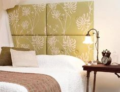 easy diy headboard for guest room bed