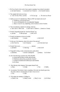 individual projects for the great gatsby this is awesome teach  the great gatsby multiple choice test for an honors ap level document