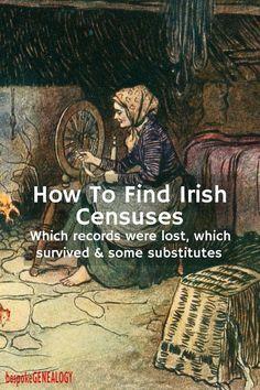 How to find Irish Censuses - Bespoke Genealogy Free Genealogy Sites, Genealogy Research, Family Genealogy, Family Tree Research, Genealogy Organization, Organizing, Emotion, Before Us, Family History