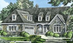 English Cottage House Plan with 2381 Square Feet and 3 Bedrooms from Dream Home Source | House Plan Code DHSW076903