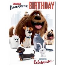 Secret Life of Pets Happy Birthday Card