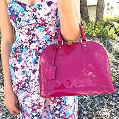 Pretty in Pink  Call/text us at 813-382-9491 if you would like to purchase this Louis Vuitton Alma PM before it goes online!