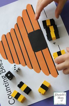 Free Printable Math Worksheets for Kids- Counting Bees using LEGOS Numeracy Activities, Math Activities For Kids, Preschool Math, Math For Kids, Number Activities, Counting Activities, Spring Activities, Free Printable Math Worksheets, Kids Math Worksheets