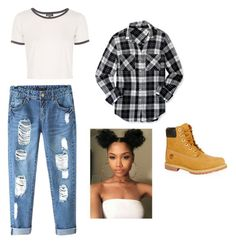 """Untitled #18"" by millzchick on Polyvore featuring Chicnova Fashion, Timberland, Topshop and Aéropostale"