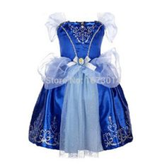Envío gratis nueva película de niño de feria Tale niños niñas niños Cosplay traje de princesa cenicienta actuaciones del partido del vestido