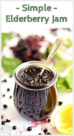 Put those foraged elderberries to good use in this deliciously Simple Elderberry Jam! Just 3 ingredients and no pectin needed! #elderberryjam #elderberryjamrecipe #elderberryjamrecipehowtomake #elderberryjamukrecipe #elderberryjamnopectin Best Sauce Recipe, Salsa Recipe, Uk Recipes, Sauce Recipes, Semolina Pudding, Chilli Jam, Seasoning Mixes, Eating Raw
