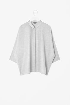 Square-cut melange shirt www.cosstores.com
