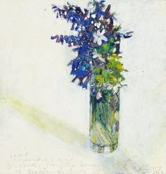 Kurt Jackson, Wood anemones and bluebells from the banks of the Tangy Burn… Kurt Jackson, Abstract Flowers, Watercolor Flowers, Still Life Flowers, Art For Sale Online, Bouquet, Still Life Art, Affordable Art, Kpop