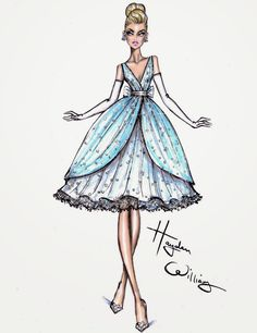Hayden Williams Fashion Illustrations: Dress designed for Disney + Tumblr in honour of the Cinderella movie