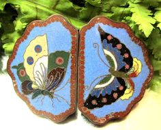 BEAUTIFUL ANTIQUE CHINESE CLOISONNE ENAMEL BELT BUCKLE W/ BUTTEFLY MOTIF #5 | Antiques, Asian Antiques, China | eBay!