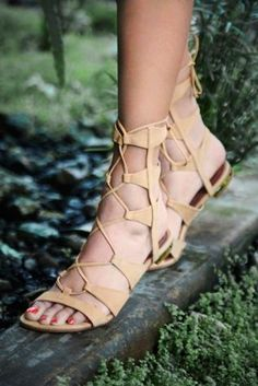 Free People Lina Lace Up Gladiator Sandals, Lace Up Gladiator Sandals, Lace Up Heels, Flat Sandals, Leather Sandals, Crazy Shoes, Me Too Shoes, Up Shoes, Bling, Kinds Of Shoes