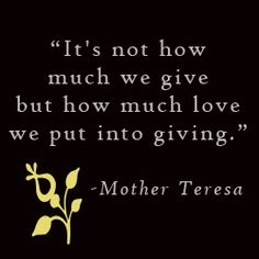 Give without the expectation of receiving!