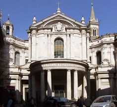 File:Santa Maria della Pace, Rome  7.1.2 S. MARIA DELLA PACE    The S. Maria della Pace church - here in plan - had been founded by Pope Sixtus IV between 1480 and 1483 on an octagonal plan with a short aisleless nave. Bramante joined the cloister to the octagon and built it on a square plan with a porch of 4 bays at each side with its piers on the principal axis and a side entrance - four bays piers in the principal axis and a side entrance of the cloister.