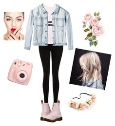 """""""Untitled #26"""" by molu-1 on Polyvore featuring Current/Elliott, MANGO, Dr. Martens and RVCA"""