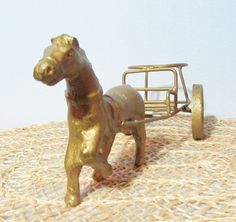 Antique Vintage Die Cast Horse Carriage by BeanzVintiques on Etsy