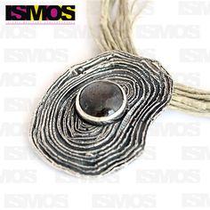 ISMOS Joyería: colgante de plata y rubí estrella // ISMOS Jewelry: silver and ruby pendant