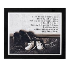 Daddy's Shoes Print - made our own version of this with the boys' shoes for Father's Day.  Super cute.  Hubby loved it.