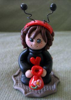 Polymer+Clay+Halloween+Ladybug+by+trinasclaycreations+on+Etsy,+$25.00
